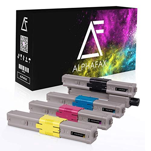 4 Alphafax Toner kompatibel mit Oki MC573-DN C532-DN C542-DN MC563dn