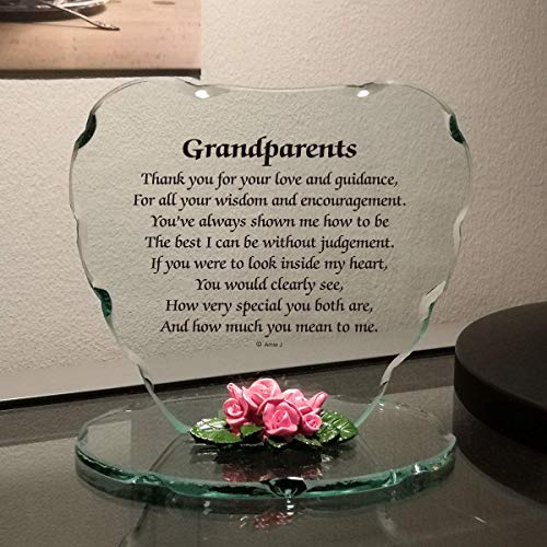 Glass Plaque Gift for (GrandParents)