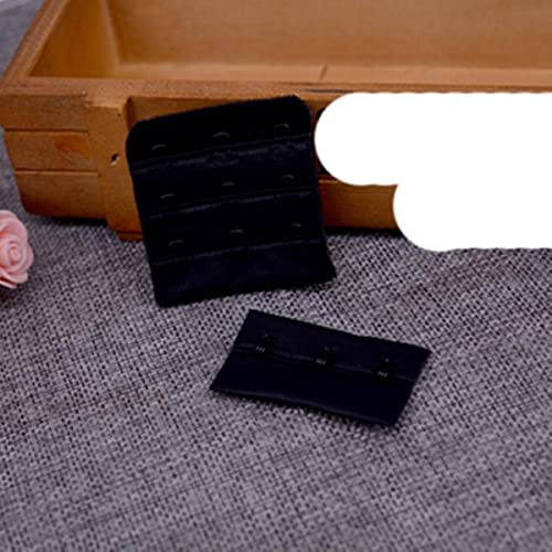 10 unids/lote sujetador útil para mujer negro blanco Extensores de correa de extensión 3 ganchos 3 filas accesorios de botón de hebilla de cinturón ajustable DIY-negro 001