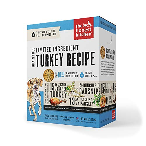 The Honest Kitchen Limited Ingredient Dehydrated Grain Free Turkey Dog Food 10 lb - Marvel