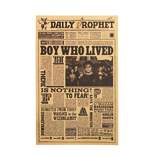 Classic Movie Kraft Paper Poster Harry Potter Daily Prophet Wall Sticker Bar Cafe Decorative Painting 42X27cm