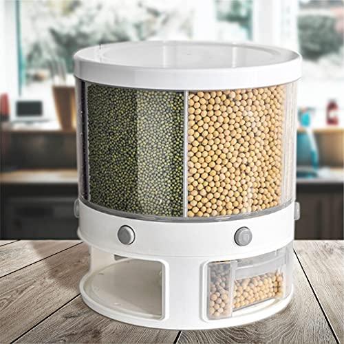 RD ROYAL COOK Dispensador de Semillas, Dispensador de Granos y alimentos secos, Dispensador con capacidad de 10 L. 6 separadores para mesa