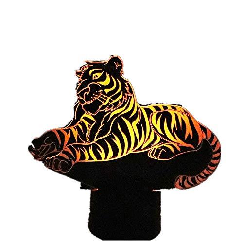 wangZJ3D Nachtlicht/Tiger/Kamera/Katze/Feuerwehrauto/Frosch/7 Farbe/Dekoratives Licht/Schlafzimmer Acryl LED Kunst/Kinder Geschenk Tiger
