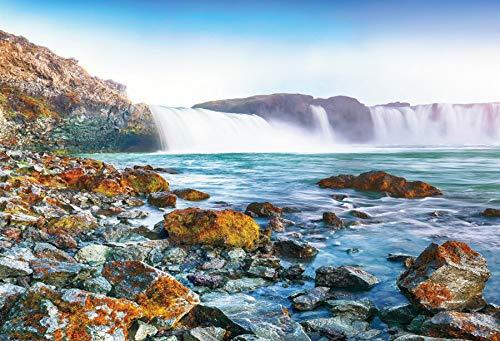 Fondos de Naturaleza Cascada montaña río árbol Camino de Madera Escena Fondos fotográficos Estudio fotográfico A34 10x7ft / 3x2,2 m