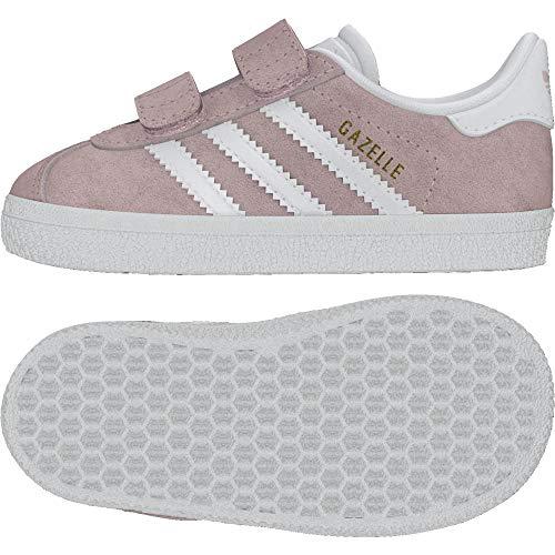 Adidas Gazelle CF I, Zapatillas Unisex bebé, Rosa (Ice Pink/Footwear White/Footwear White 0), 24 EU