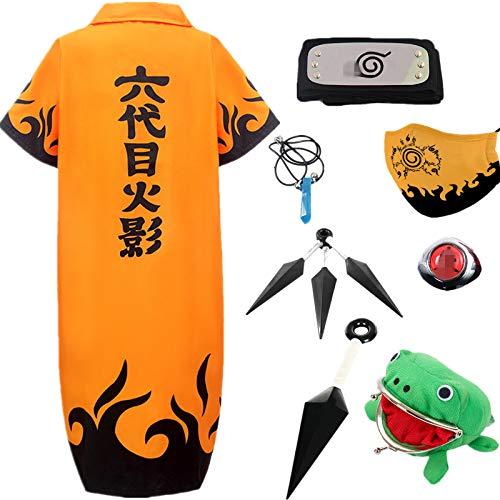 AOGD Anime Naruto Shippuden Hatake Kakashi Cosplay Disfraz Fiesta de Carnaval de Halloween Vestidos Naruto Capa Pain Cartera Rana Adulto Unisex Nios Conjunto