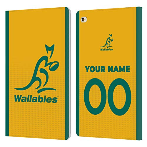Custom Customised Personalised Australia National Rugby Union Team Home 2020/21 Kit Leather Book Wallet Case Cover Compatible For Apple iPad mini 4