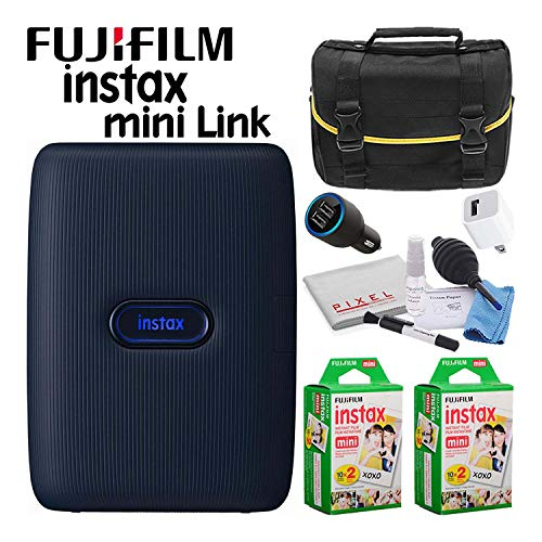 Learn More About Fujifilm Instax Mini Link Portable Smartphone Printer (Dark Denim) Creative Kit Del...