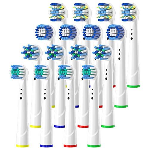 ITECHNIK Aufsteckbürsten für Oral B Elektrische Zahnbürsten Rotierend Ersatzbürsten, Aufsätze für Oral B 16er