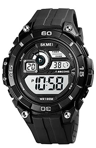 Digital Uhren für Jungen Herren-50M Wasserdicht Outdoor Sports Digitaluhr, Armbanduhr für Männer mit Wecker/Alarm/LED/Stoppuhr