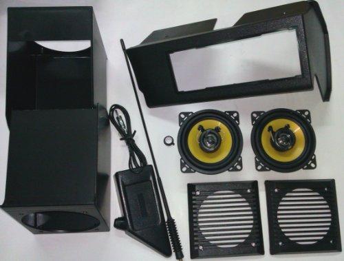Kit de altavoces, antena de soporte y porta radio para Fiat Panda...