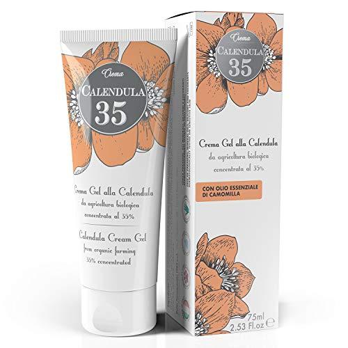 Dulàc - Crème de Calendula concentrée à 35% - 75 ml - Nourrit, hydrate et protège la peau - Crème de change pour bébés - 100% Made in Italy - Calendula 35