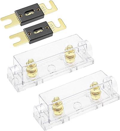 Sourcingmap/® 10 pcs Carcasa de pl/ástico Soporte portafusibles para 5mm x 20mm Tubo Fusible