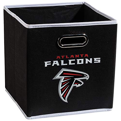 Franklin Sports NFL Atlanta Falcons Collapsible Storage Bin - NFL Folding Cube Storage Container - Fits Bin Organizers - Fabric NFL Team Storage Cubes