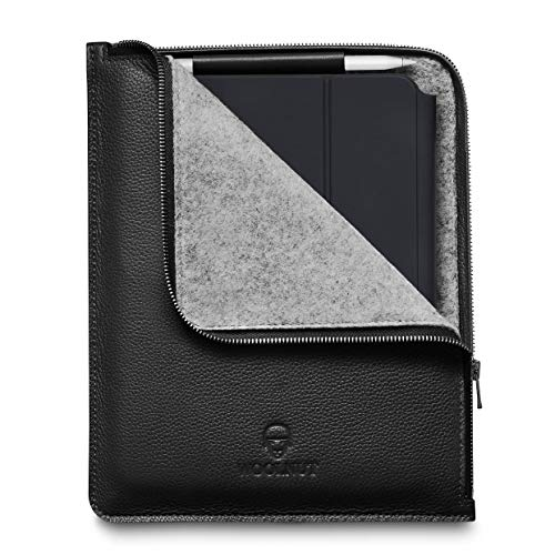Woolnut Leather Folio Cover Case for iPad Pro 11 Inch & 10.9 inch iPad Air - Black