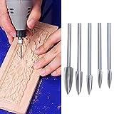 Yunobi Juego de 5 brocas de acero inoxidable para tallar madera y grabar, fresado, cortador de raíz, herramientas para carpintería