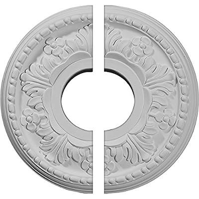 Ekena Millwork 11 7/8-Inch OD x 3 5/8-Inch ID x 7/8-Inch Helene Ceiling Medallion