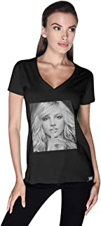 Creo Cotton V Neck T-Shirt For Women