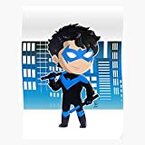 Comics Nightwing Wing Night Superheroes Comicbooks Chibi Superhero I Fsgmanuela-Impressive and Trendy Poster Print Decor Wall or Desk Mount Options
