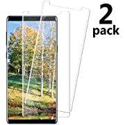 [2 Pack] Samsung Galaxy Note 9 Tempered Glass Screen Protector, invarsely [HD Clear][Anti-Bubble][9H Hardness][Anti-Scratch][Anti-Fingerprint] Screen Protector Compatible with Note 9