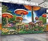 Fondo de pantalla de paisaje de escena de sueño de setas de mundo de cuento de hadas-280X200cm