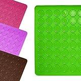 Lumaland Cuisine formschöne Silikon Backmatte für Macarons Kekse 30x40 cm robust rutschfest im Backofen bis 230 °C grün