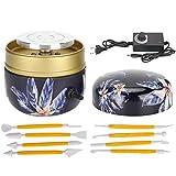Mini macchina per ruote da vasaio, utensile per argilla con ruota da ceramica elettrica con vassoio Mini macchina per ceramica da vasaio(Spina UE)