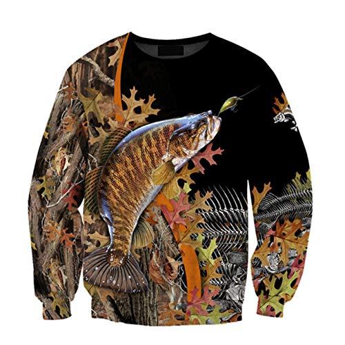 Pesca Camo 3D Impreso Sudadera con Capucha para Hombre Harajuku Streetwear Pullover Hoodies Otoo Unisex Chaqueta Chndales Sweatshirt 5XL
