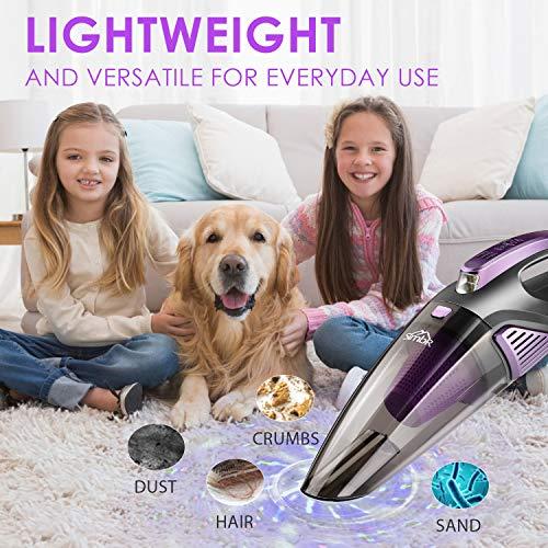 Handheld Vacuum Cordless, Car Vacuum Cleaner(Led Light, Quick Rechargeable 2500mAh Battery) Wet