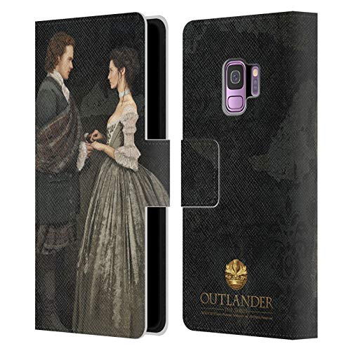 Head Case Designs Officially Licensed Outlander Claire & Jamie Painting Portraits Leather Book Wallet Case Cover Compatible with Samsung Galaxy S9
