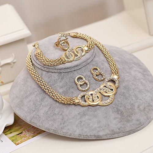 Exquisite Dubai Jewelry Set Gold Big Nigerian Wedding African Beads Jewelry Set Costume Design F717