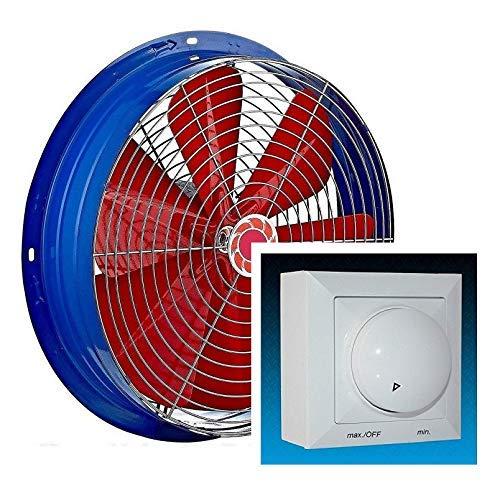 600 mm Ventilador Industrial con 500W Regulador de Velocidad Ventilación Metal Extractor Ventiladores Axial extractores aspiracion mura pared 60cm