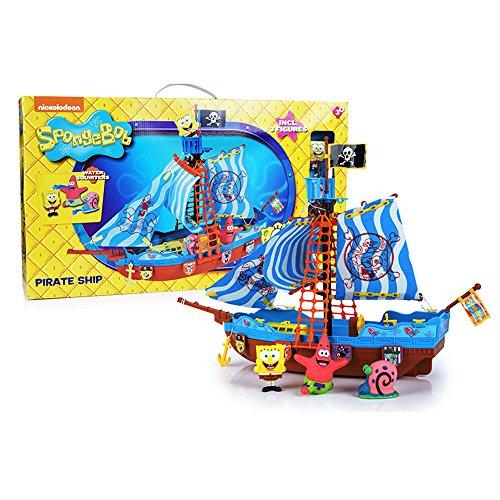 Simba Bob Esponja - Barco Pirata, Incluye Figura de Sponge Bob, Gary y Patricio...