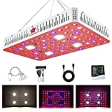SAFER US-DESIGN 2000W Cree COB LED Grow Lights, Full Spectrum LED Grow Lights for Indoor Plants Veg and Flower with Daisy Chain, Monitor, Veg and Bloom Switch, Adjustable Rope (Actual Power 400watt)