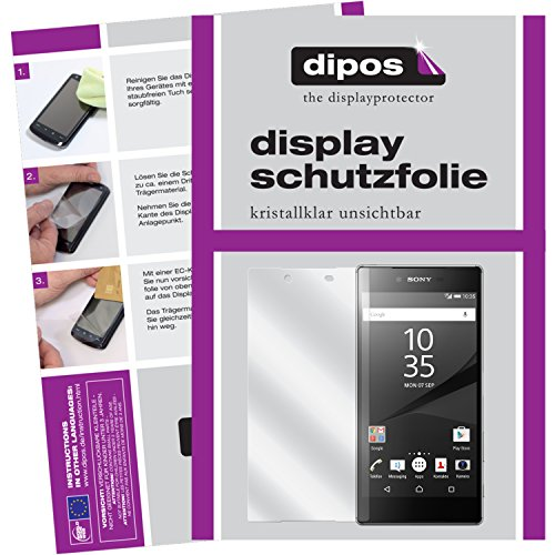 dipos I 2X Protector de Pantalla Compatible con Sony Xperia Z5 Premium pelicula Protectora Claro