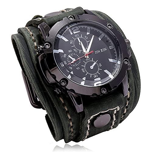 Watch Luxury - Reloj de pulsera de cuarzo para hombre, diseño punk, color azul