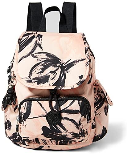 Kipling City Pack Mini, Sacs à Dos Loisir Femme, Fleurs Corail, Taille Unique