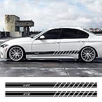 JIERS BMW F10 5シリーズF01 F02 F07 F11 F12 F13 F15 F16 F17 F18 F20 F24 F25用、車のドアサイドスカートストライプステッカー車のステッカー