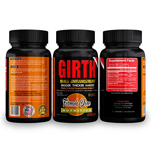 Girth – Formula Done Men's Testosterone Booster/Male Enhancement (60 Caplets) - Muscle Growth, Endurance, Strength, Energy Booster – Premium Ingredients Triple Strength Formula - Promotes Fat Burning