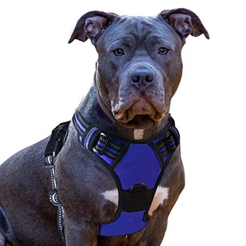 Eagloo No Pull Dog Harness Medium Blue, Front Clip Vest Harness Dog Car...