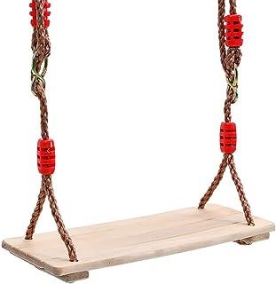 GBHJJ Träsitsar, inomhus gungstol, hängande trägungor säte justerbar, inomhus utomhus rep trä gunga set för barn vuxna barn