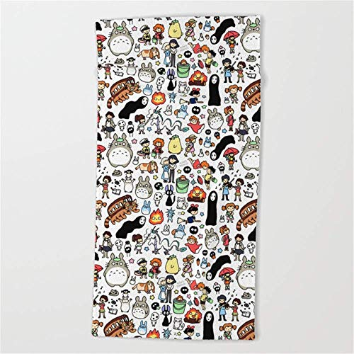 LINGVYTE Kawaii Ghibli Doodle Beach Towel 31x51 Inches