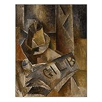 カスパー・ダーヴィト・フリードリヒ《朝の光の中の村の風景-孤独な木》キャンバスの油絵の風景家の装飾-60x90cmx1フレームなし