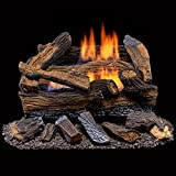 Duluth Forge Ventless Natural Gas Log Set-18 in. Manual Control, 18 Inch, Split Red Oak