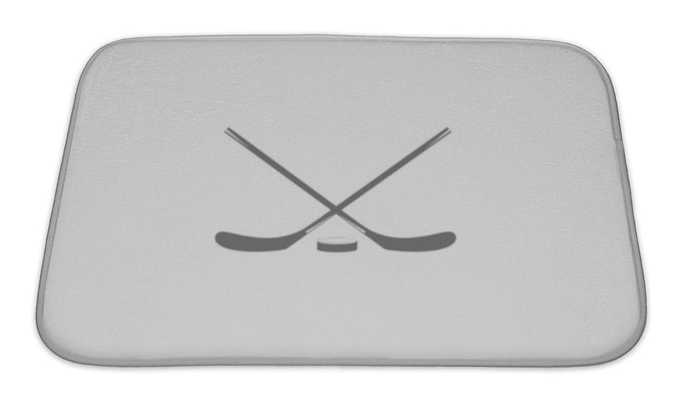 蒸し器エントリハンドブック(60cm wide by 43cm long, Multi) - Gear New Bath Rug Mat No Slip Microfiber Memory Foam, Washer For Hockey Stick Hockey The Game Of Hockey Minimalism Sport Icon, 24x17