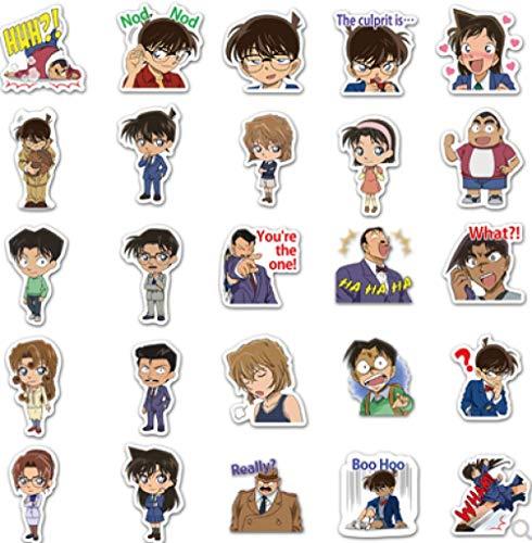 BLOUR Anime Detective Conan Dibujos Animados Emoji Pegatinas DIY Mobile Shell Water Cup Notebook PVC Pegatinas Impermeables 50 Uds
