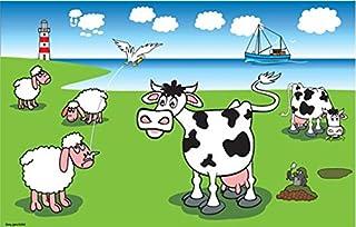Fahne Flagge Kühe und Schafe an der Küste 30 x 45 cm