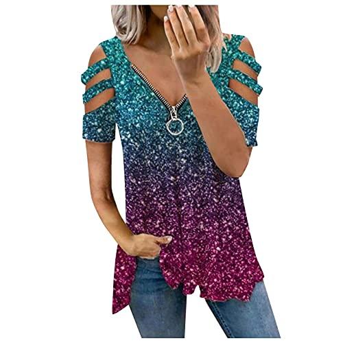 T Shirt Knoten Lange Tshirts Damen Locker Weisse Bluse Damen Langes Tshirt Damen Damen Hemd Tops Damen Sommer Margittes Shirt Teenager Mode Mädchen Rote Bluse Schulterfrei Frauen T-Shirt