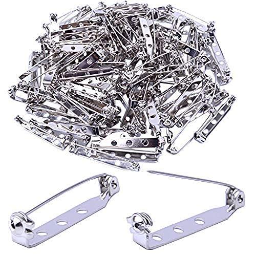 Omenluck 100 Stück Brosche Pin Back Bar Pin Tone Pin Pin Brosche Pins Sicherheitsnadeln