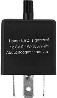 12V 3 Pin LED Relé intermitente LED ajustable Relé de luz Intermitente intermitente Indicador de señal Relé CF13-JL02 Solución para el indicador de señal Luz intermitente